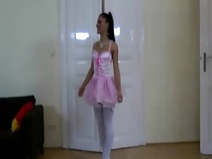 Stockinged ballet sizzling teen whore