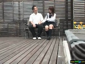 Alluring Sensual Asian Lass Get Pound Herdcore Outdoor vid-36