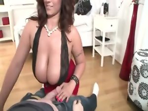 Tit banged buxom point of view babe