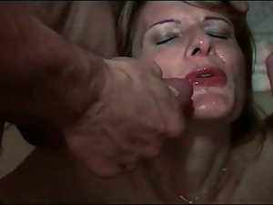 FRENCH Experienced 24 asshole aged mother filthy bitch 4 men double pen