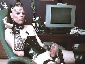 Smokin' faggot-whore: This is how I love to be humiliated