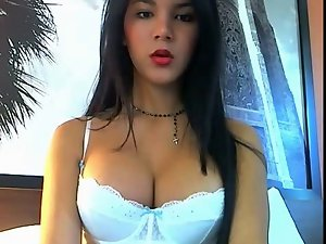 Amazing latin shemale on cam