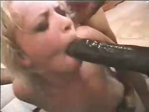 Classic - Three Ebony Lads Taking A Blond Whore