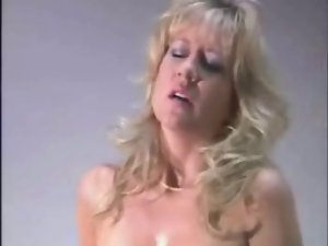 Sweaty aged riding a sybian