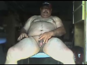Bushy silver daddies on webcam compilaton