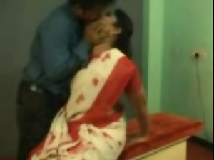 sensual indian aunty having sex at workplace