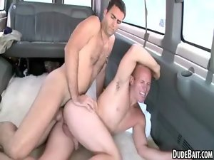 Two luscious straight hunks are banging for the first time