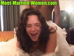 Luscious filthy dark haired amateur mummy white wedding games with bbc