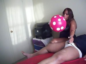Luscious Obese Big Balloon HandJob pt.2