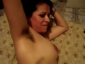Cumming on my face while you see my shaggy armpits