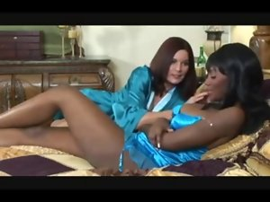 lovely black female seduced