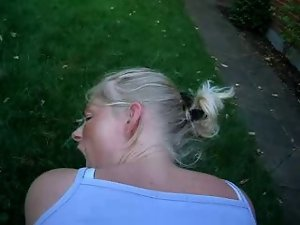 Webman - Swedish babe shagged doggystyle outside