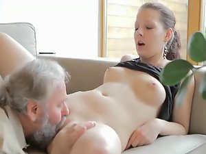 Raunchy aged man screws son's fuck partner