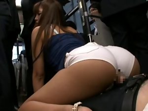 Jap wear shorts banged in bus part 2