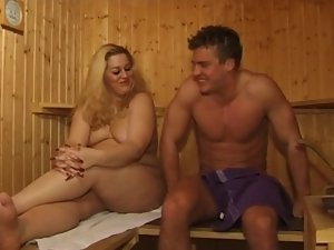 Buxom Mommy FUCK IN SAUNA