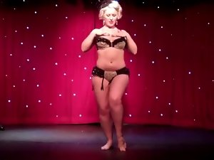 Burlesque Striptease by Ideal Nordic-Western Blond Female