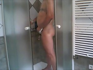 husband in the shower