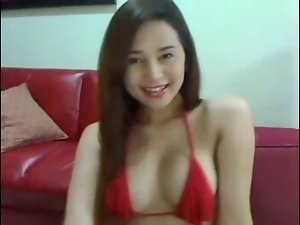 beautiful asian transsexual masturbates and shoots a huge load