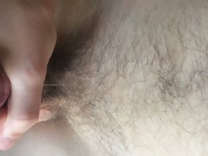 milking my penis while watching gay porn