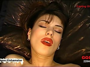 Beauteous dark haired lady Irina wants every lad to cum on her