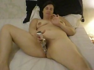 Neighbor stepmom with a vibrating sex toy