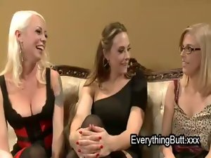 Three lesbos assholes fisting