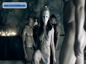 Mega big melons Erin Cummings sex episodes in Spartacus