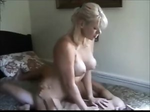 Big boobed dirty wife grinded by younger fellow