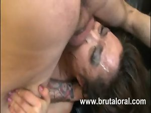 Crazy sensual japanese deepthroat execution