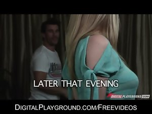 Natural blond Allie James cheats on her man for few hard shaft