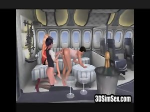 3D stewardess joins the mile high club