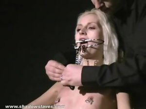 Luscious blondie Wynters extreme piercing punishments and nipple tortured slave babe