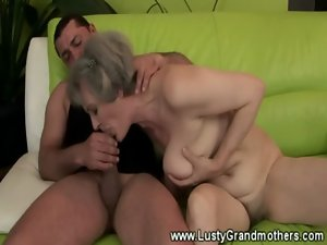 Older solid granny getting roughly banged