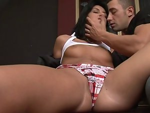 Alluring Latina Teenager Vixen Delights Brutal Butthole Sex 420
