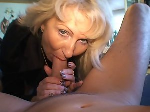 Blond German Mommy - Bangs a Fellow with her Nylons