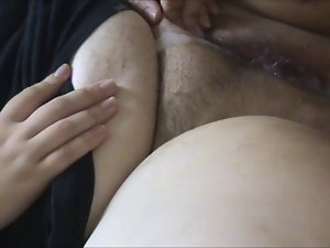 Very hairy Fatty Gets a Ramming