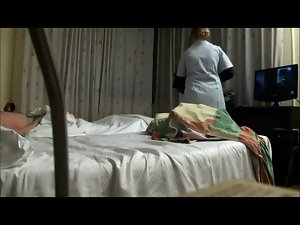 Paying and banging the maid in hotel