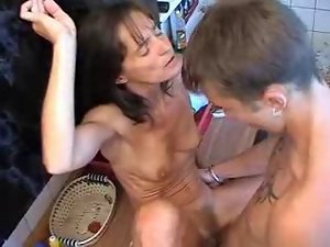 Gaunt Slutty russian Mummy screws 18 years old guy.