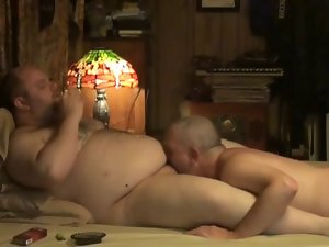 White Daddy Swallows 18 years old Bear Cum