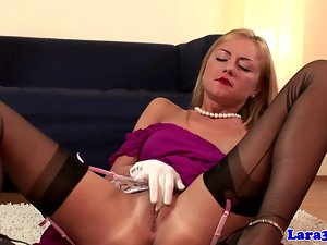English posh experienced lezzy loves tempting blonde