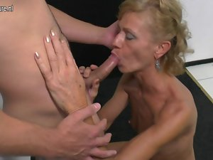 Son caresses and bangs lewd attractive mature not his stepmom
