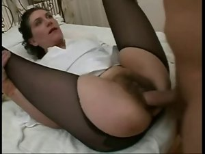 Hirsute French Attractive mature butthole 03