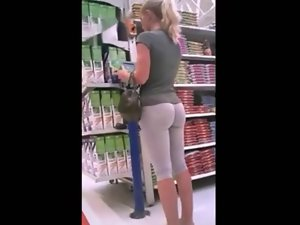 filthy butt babe in yoga pants