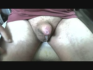 Jerking off my cock. I need a big cum load.