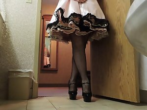 Sissy Ray in Rosy Sissy Dress part 3