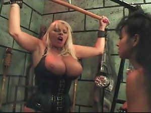 Mistress titty play, boot stroking