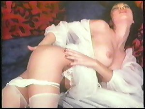 Hong Kong Harlots Masturbation in White Lingerie