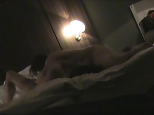 Hotelroomsex with Cougar Ine hidden camera part 4