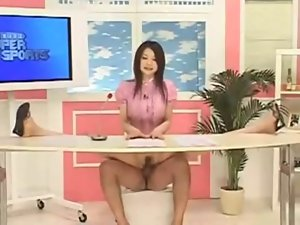 Sensual japanese News Reporter...F70