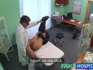 Artificial Hospital Alluring treatment turns beautiful big titted patient